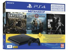 Ігрова приставка Sony PlayStation 4 Slim (1TB) Black +DG+GOW+TLOU+PSPlus 3M