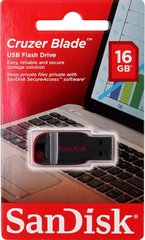 USB Flash Drive SanDisk 16 Gb Cruzer Blade (SDCZ50-016G-B35) Black-Red