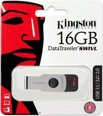 USB3.0 Flash Drive Kingston 16 Gb DT SWIVL (Metal / color) (DTSWIVL / 16GB)