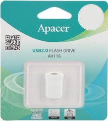 USB Flash Drive Apacer 16 Gb AH116 (AP16GAH116W-1) White