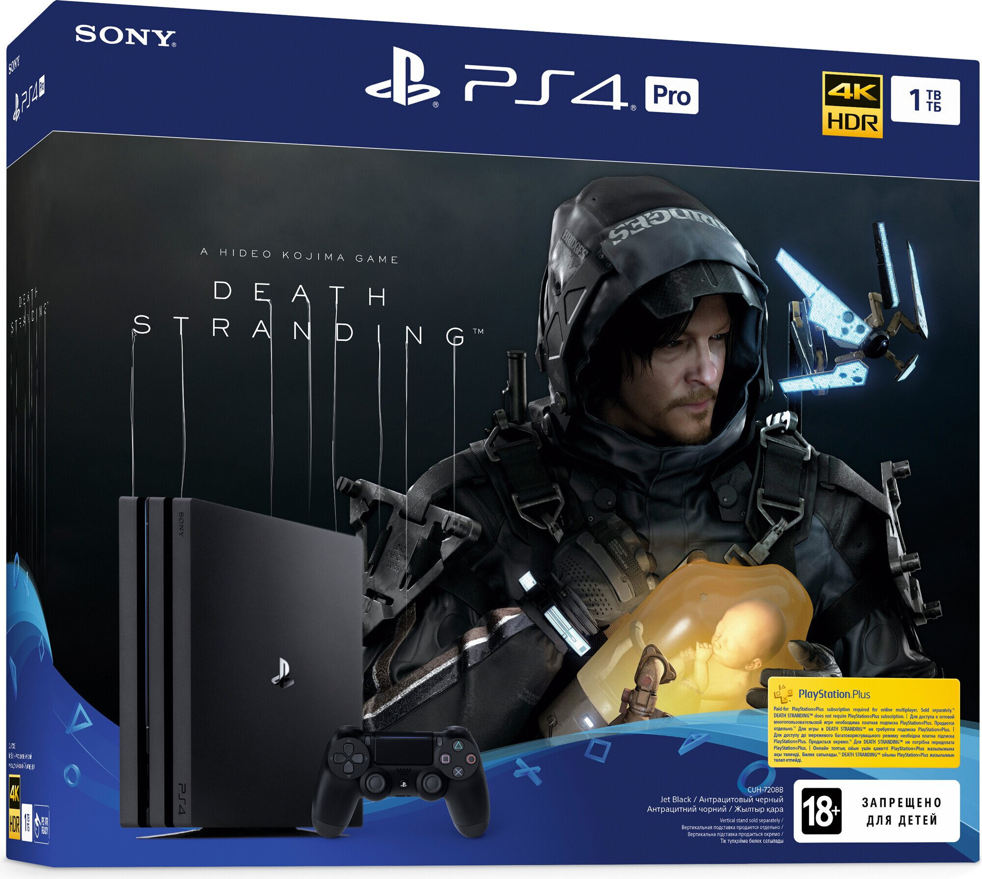 Ігрова приставка Sony PlayStation 4 Pro (1000Gb) Black + Death Stranding