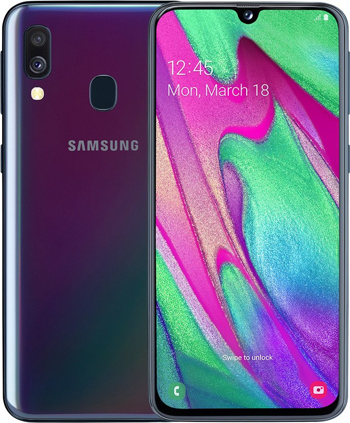 Смартфон Samsung Galaxy A40 2019 4/64GB Black (SM-A405F) UACRF