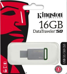 USB3.1 Flash Drive Kingston DataTraveler 50 16GB Green (DT50 / 16GB)
