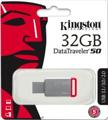 USB3.1 Flash Drive Kingston DataTraveler 50 32GB Red (DT50 / 32GB)