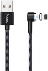 Кабель USB HOCO U20 L-Shape Magnetic Adsorption Lightning 1m (Black)